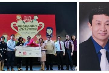 王永新老師榮獲第二屆快樂學漢語運動大使獎